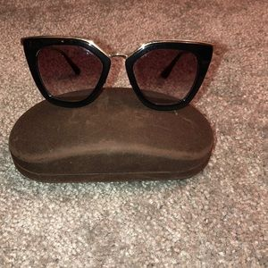 Black Prada sunglasses. Gently used.